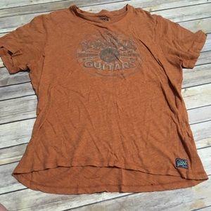 3/$18 Lucky Brand Burnt Orange Nashville Guitars
